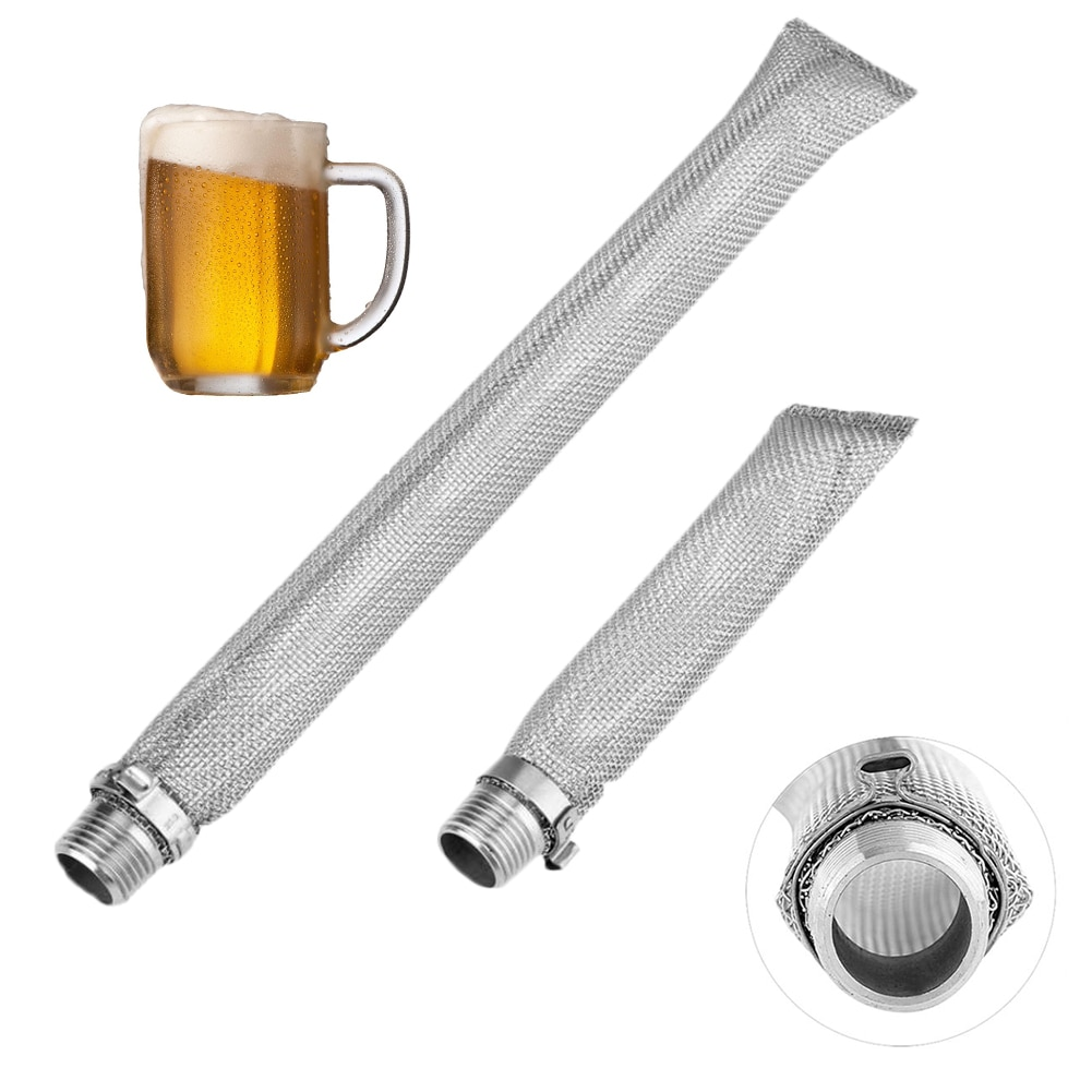 1# 1//2in NPT Stainless Steel Home Beer Brewing Filter Screen Mesh Filter for Homebrew Beer Kettle Mash Tun